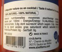 Thé des Marseillais - Nutrition facts - fr