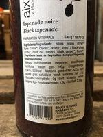 Tapenade noire - Nutrition facts