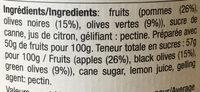 Olives et pommes - Ingrediënten