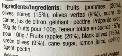 Olives et pommes - Ingredients