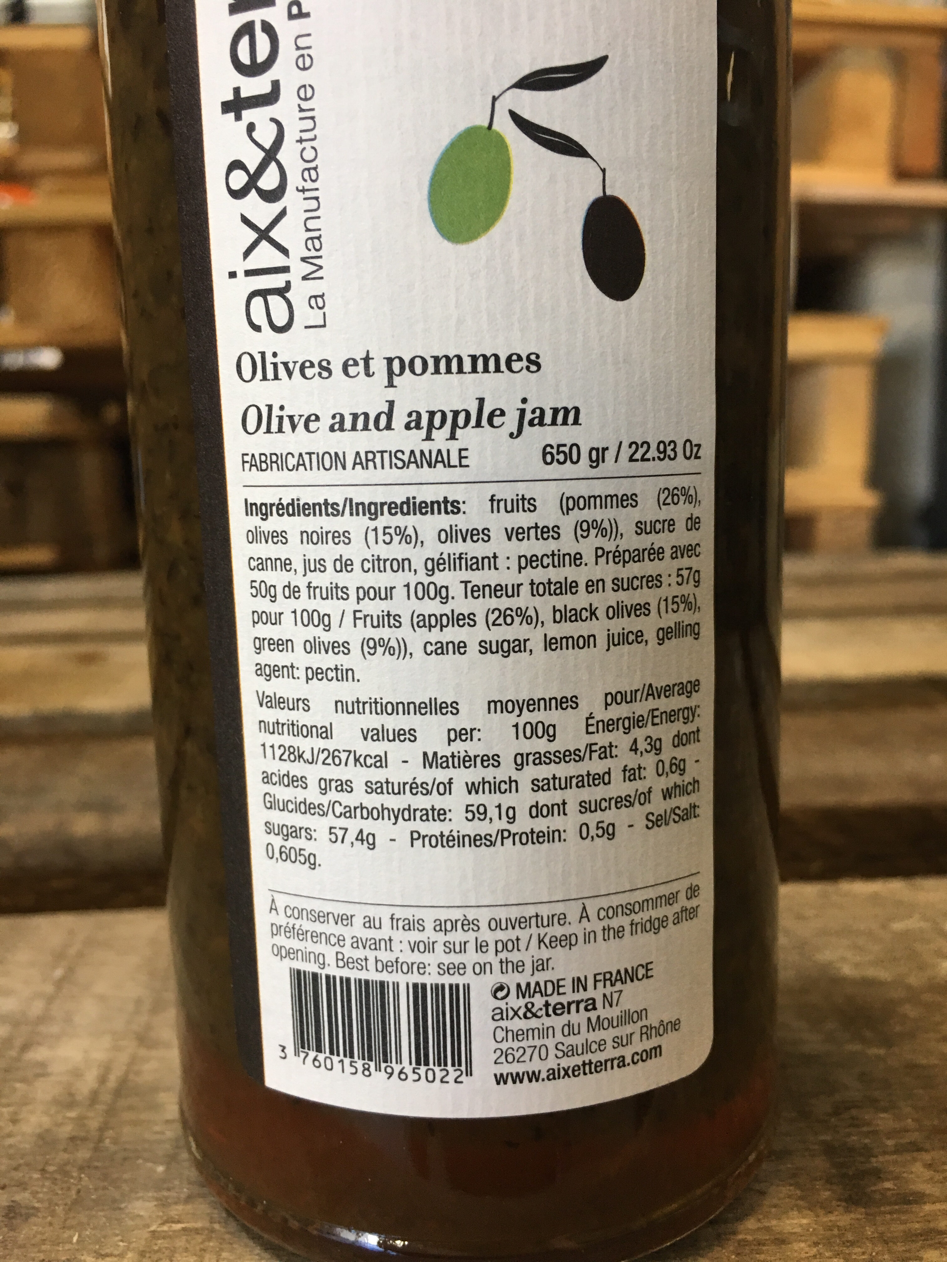 Olives et pommes - Voedingswaarden