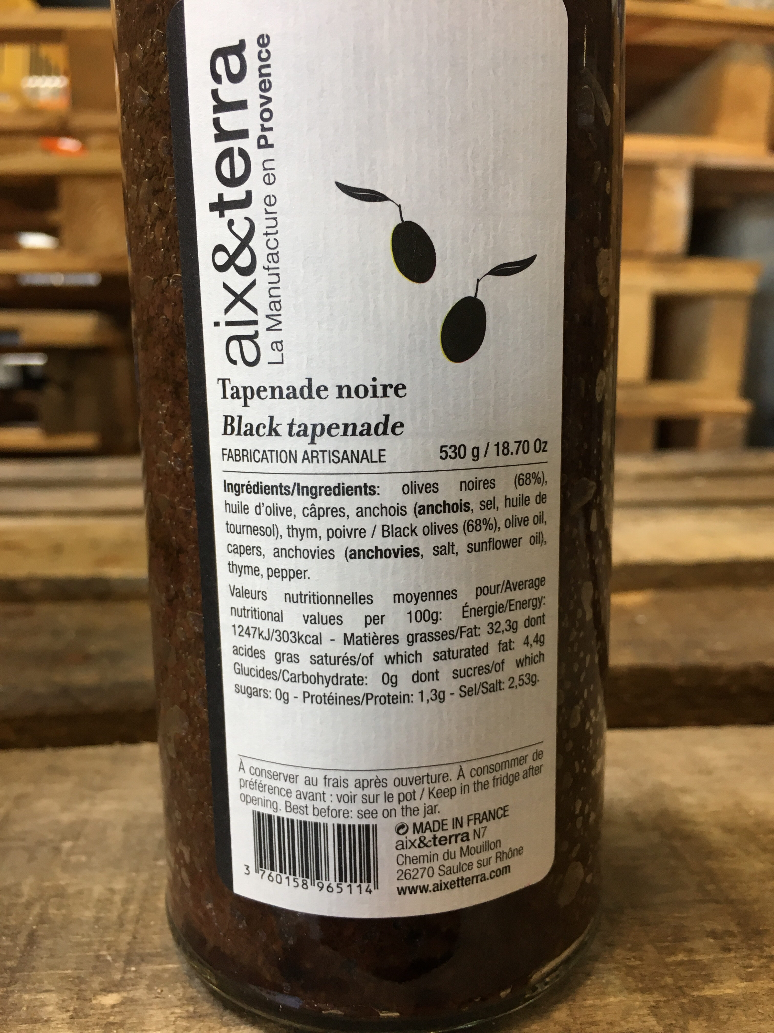 Tapenade noire - Nutrition facts