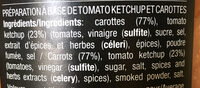 Ketchup carotte - Ingredients