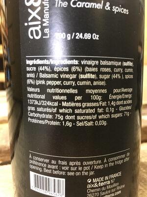 caramel aux épices - Nutrition facts