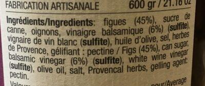 Confît de figues au vinaigre balsamique - Ingredients