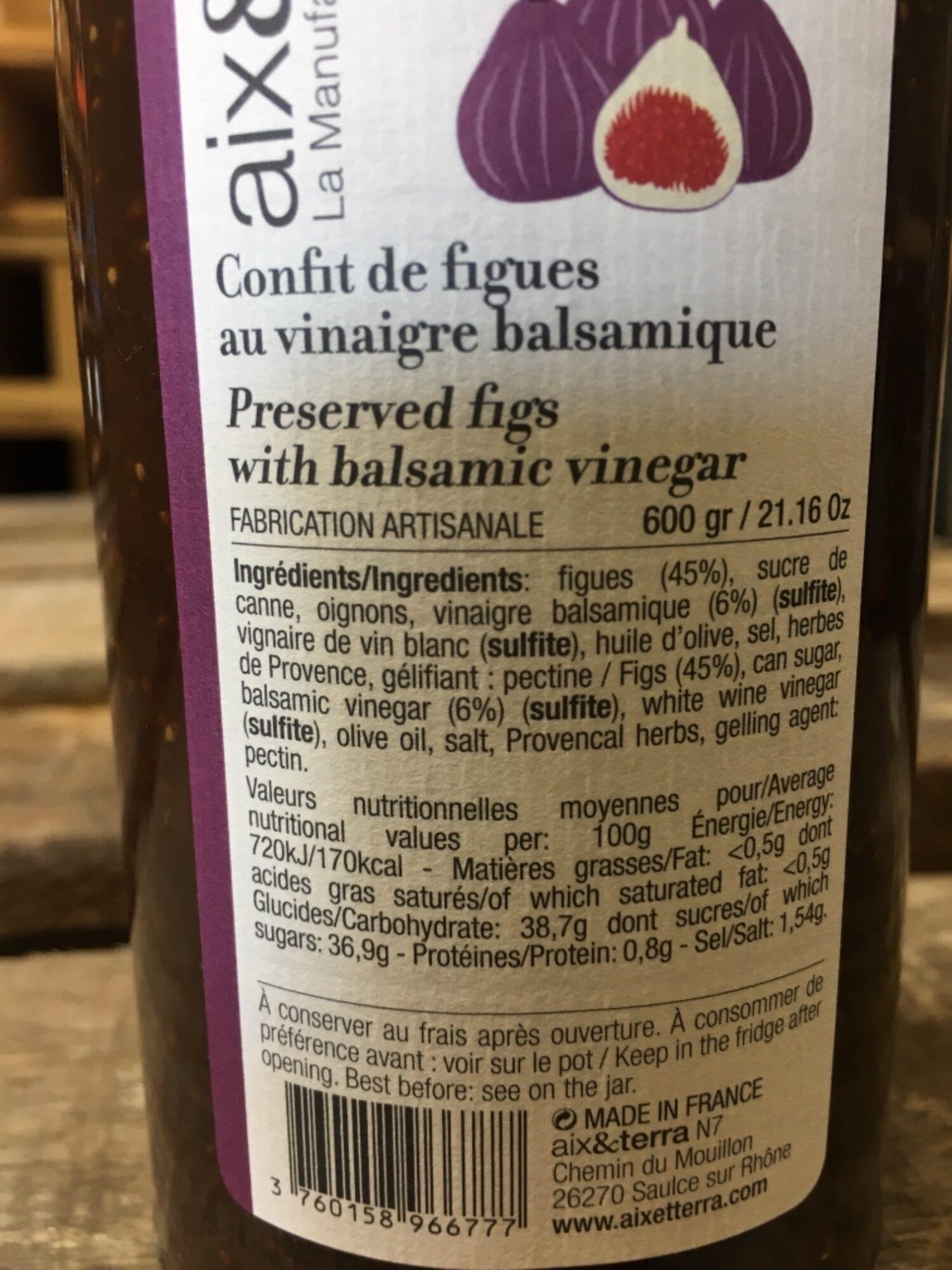 Confît de figues au vinaigre balsamique - Nutrition facts