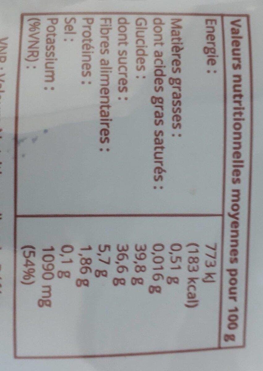 Abricots Séchés Bio & équitable - Voedingswaarden - fr