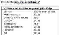 Pistaches décortiquées - Ingredients - fr