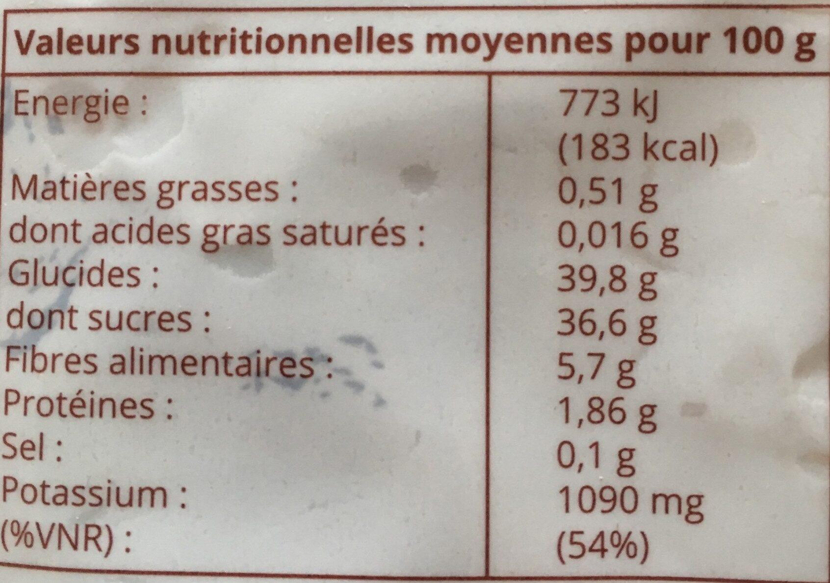 Abricots Moelleux - Ingrédients - fr