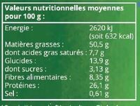 Arachides en coques grillées - Ingrédients - fr