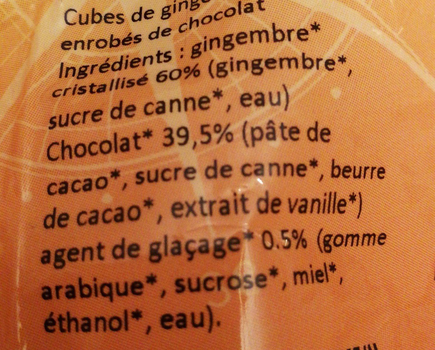 Gingembre au chocolat - Ingrédients - fr