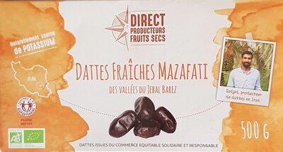Dattes fraîches Mazafati des vallées du Jebal Barez - Product - fr