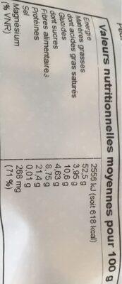 Amandes émondées - Informations nutritionnelles - fr