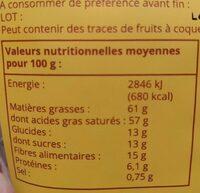 Chips de coco au cacao - Informations nutritionnelles - fr