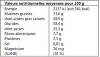 Banane chips - Informations nutritionnelles - fr