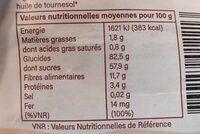Mulberries séchées - Nutrition facts - fr