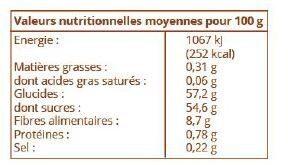Pommes séchées - Nutrition facts - fr