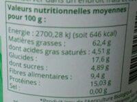 Purée de noisettes - Informations nutritionnelles - fr