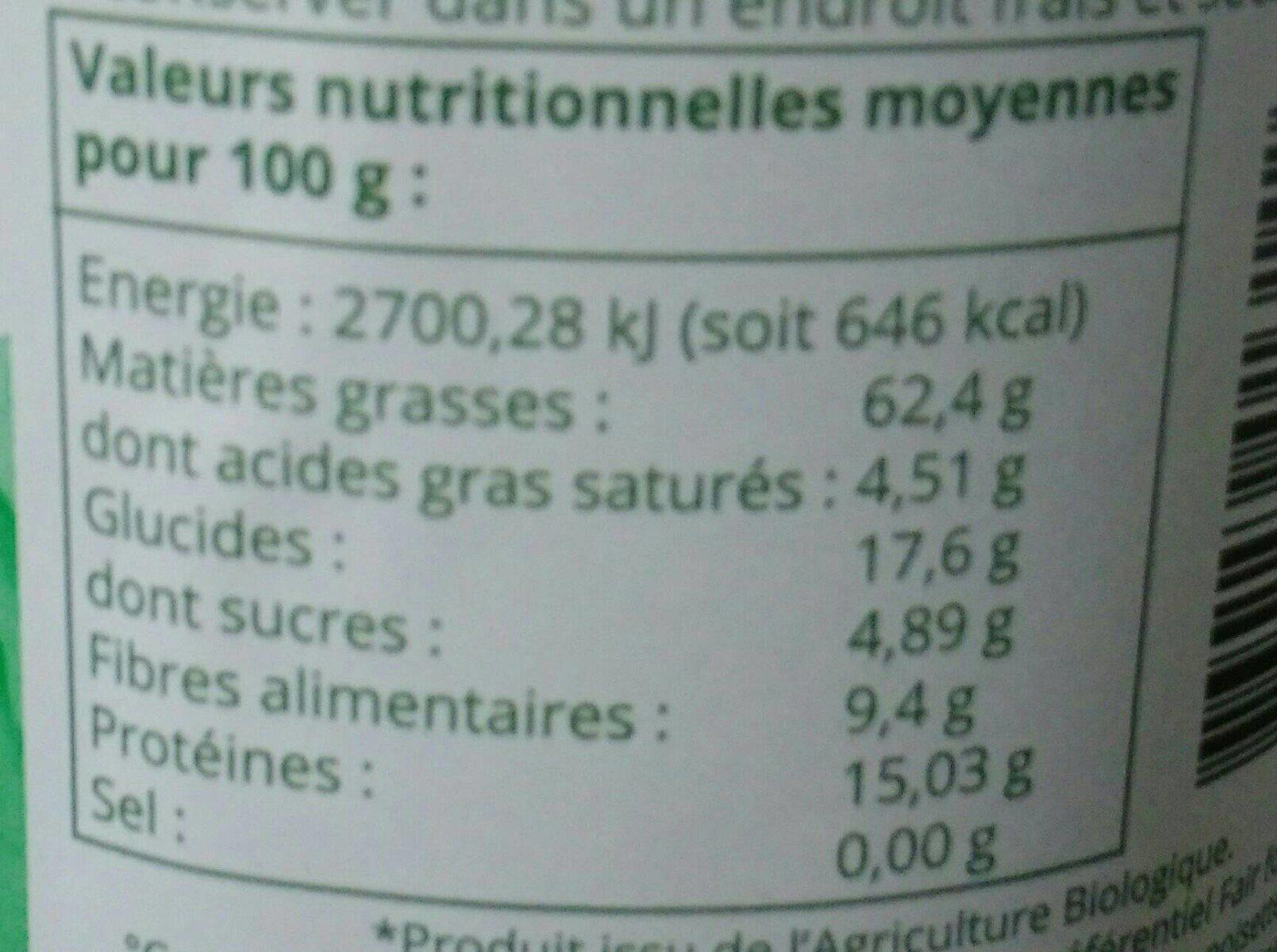 Purée de noisettes - Nutrition facts - fr