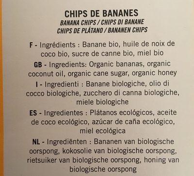 Chips de bananes - Ingredients - fr
