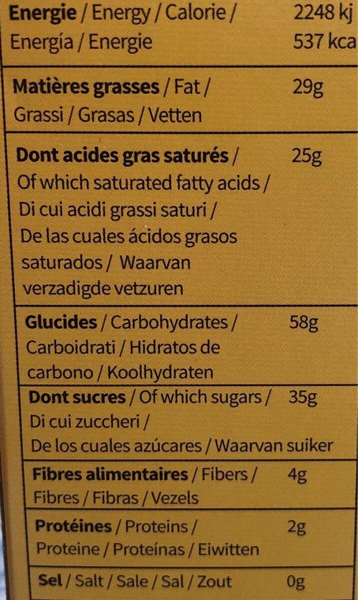 Chips de bananes - Nutrition facts - fr