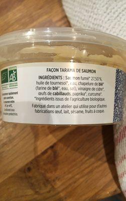 Tarama aux œufs de cabillaud et saumon sauvage - Ingredients