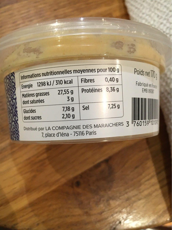 Tarama aux œufs de cabillaud et saumon sauvage - Nutrition facts