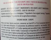 Très pressés raisin - Ingredienti - fr