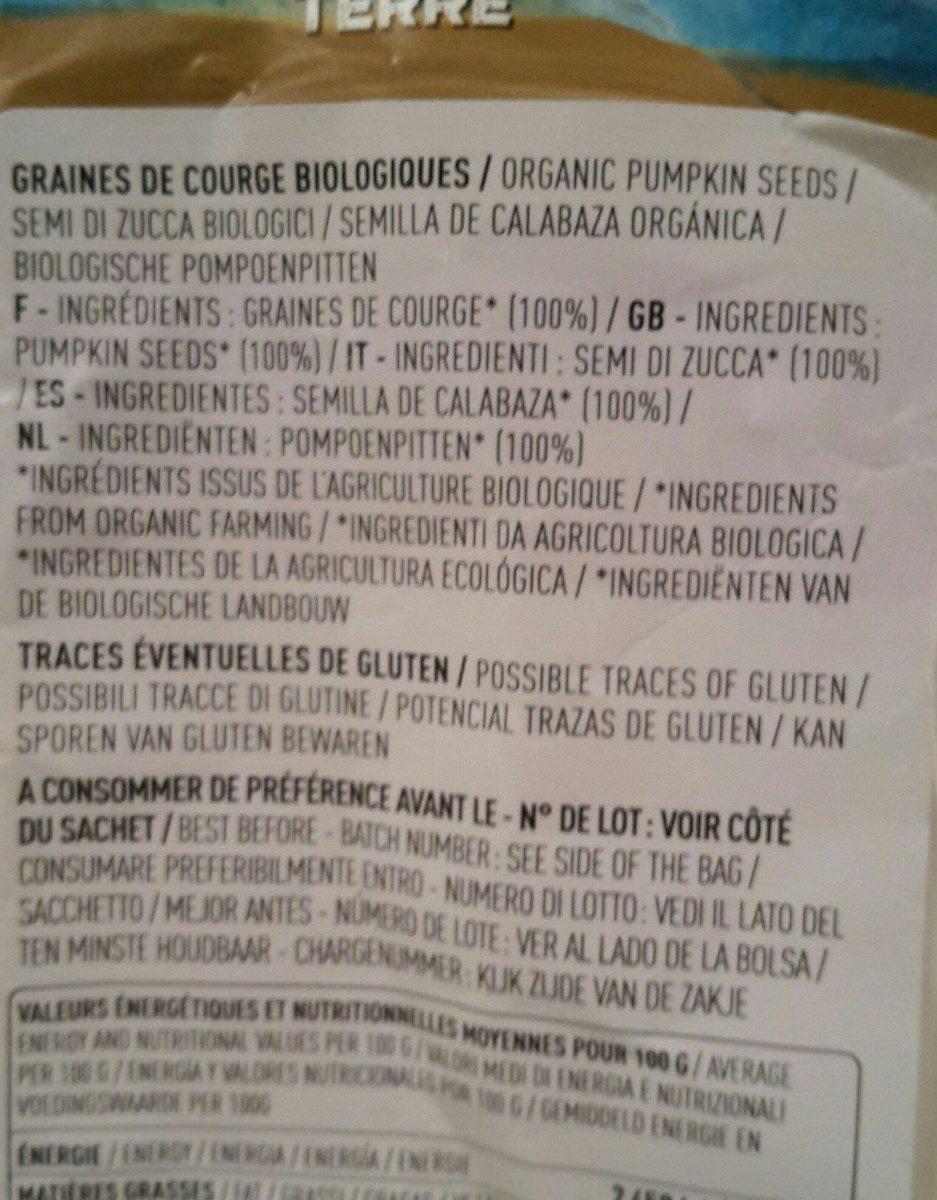 Graines de courge bio - Ingrediënten - fr