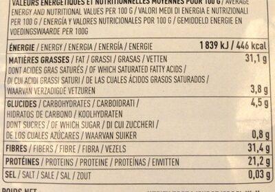 Graines de chia bio - Informations nutritionnelles - fr