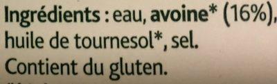 Boisson à l'Avoine Bio - Ingredients