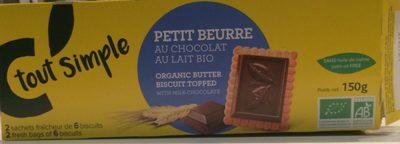 Petit beurre chocolat au lait bio - Produit - fr