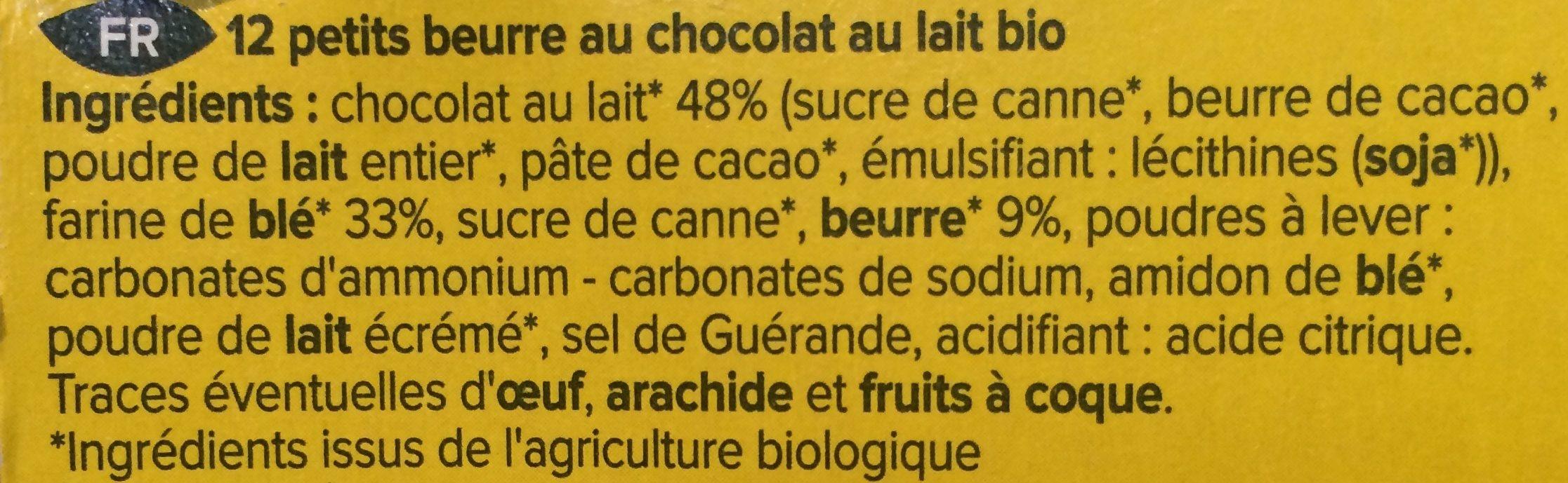 Petit beurre chocolat au lait bio - Ingrédients - fr
