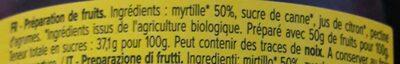 Confitures bio extra myrtille - Ingredients - fr