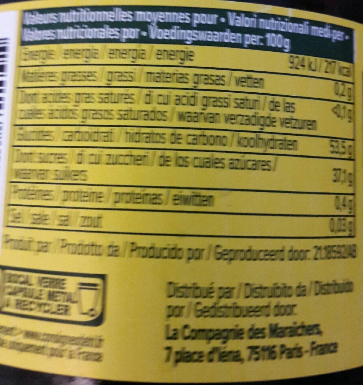 Confitures bio extra myrtille - Nutrition facts - fr