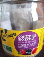 Confiture Bio extra fruits rouges - Produit - fr
