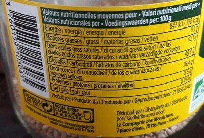 Confiture Bio extra fruits rouges - Informations nutritionnelles - fr