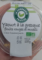 yaourt a la grecque fruits rouges et muesli - Produit - fr