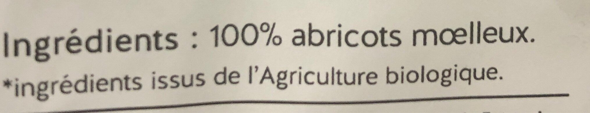Abricots Moelleux - Ingrediënten