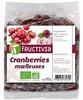 Cranberries moelleuses Bio Fructivia - Sachet 200g - Produit