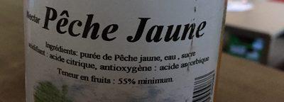 Nectar peche jaune - Ingredienti - fr