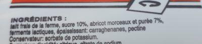 Yaourt Abricot - Ingredients