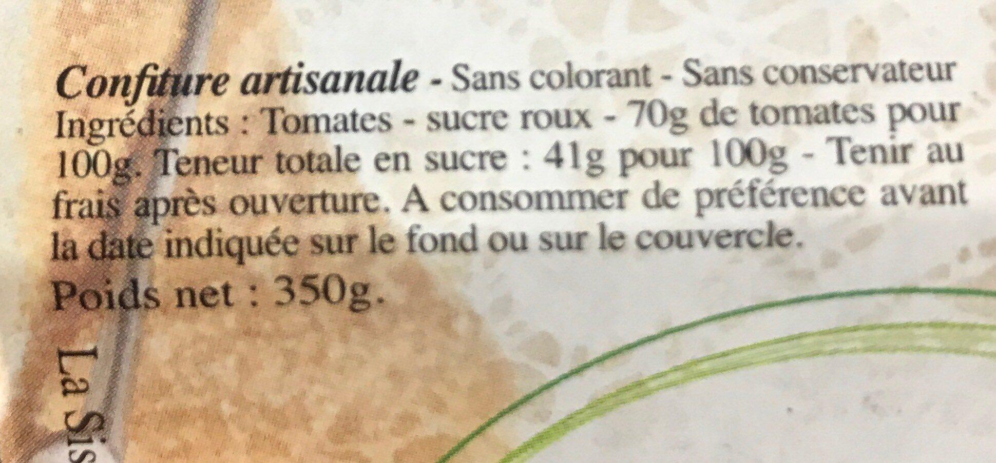 Confiture extra de Sologne - Informations nutritionnelles - fr