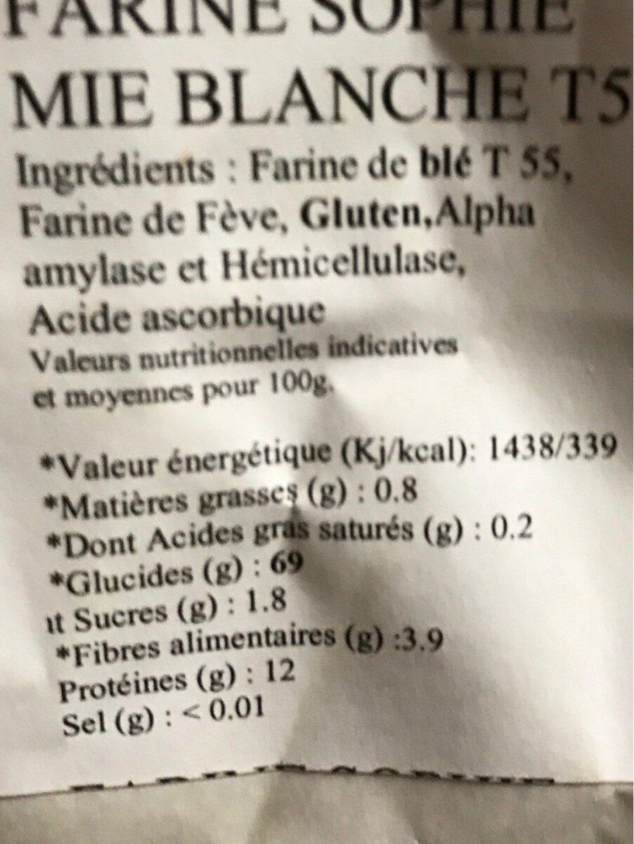 Farine sophie - Ingredients - fr