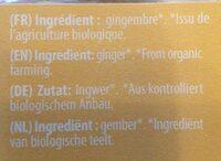 Gingembre En Poudre Bio / Ground Ginger Organic Spice - Valori nutrizionali - fr