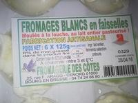Fromages blancs en faisselles - Product - fr