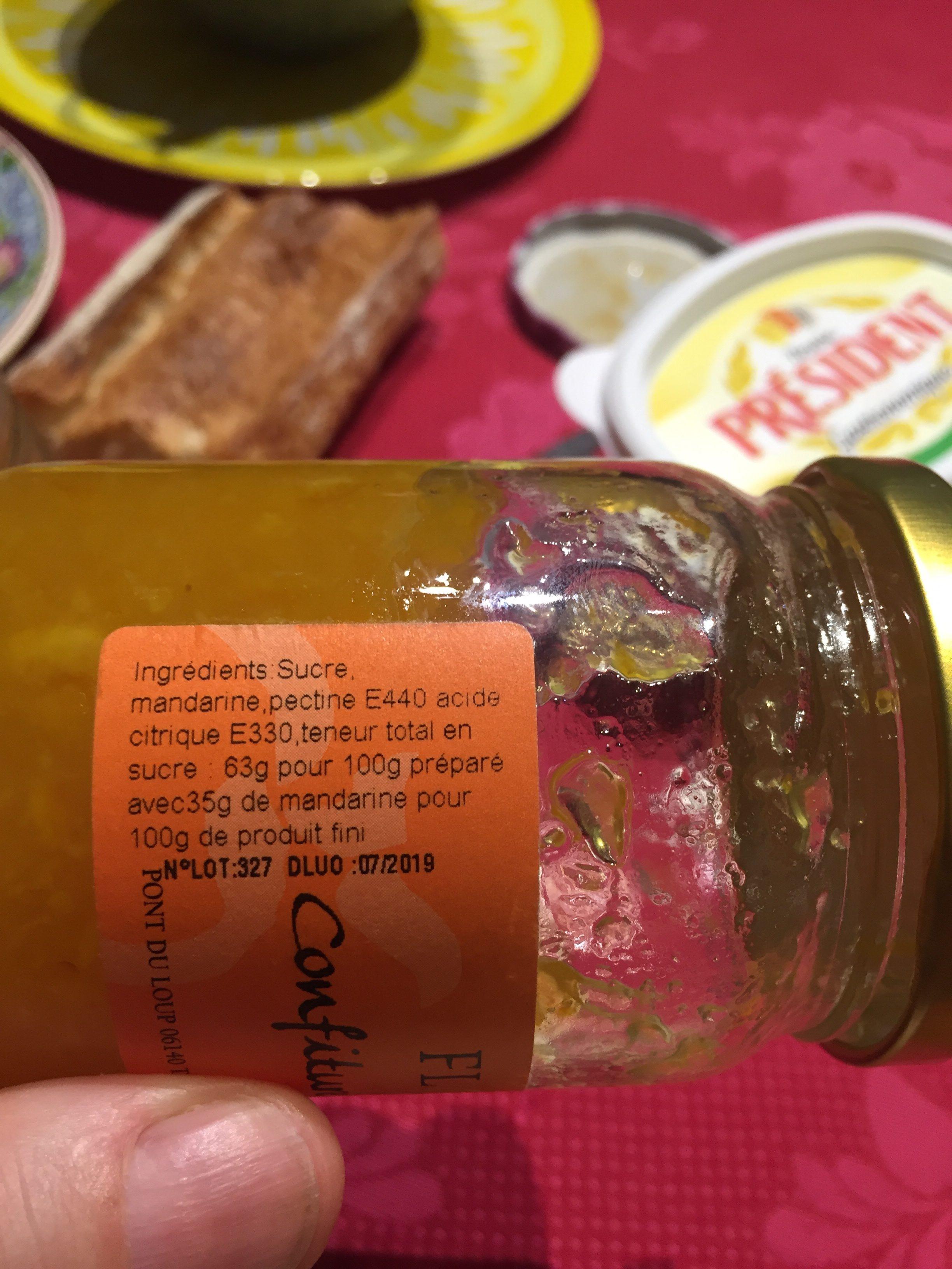 Confiture De Mandarine - Ingrédients