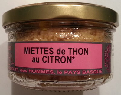Miettes de thon au citron - Product
