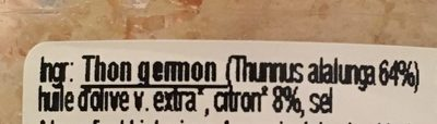 Miettes de thon au citron - Ingrediënten