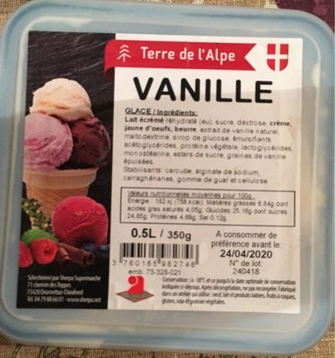 Glace vanille - Product - fr